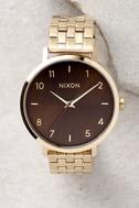 Nixon Arrow Light Gold and Manuka Watch 2