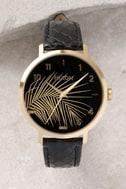 Nixon X Amuse Society Arrow Gold, Black, and Palm Leather Watch 2