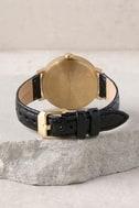 Nixon X Amuse Society Arrow Gold, Black, and Palm Leather Watch 3