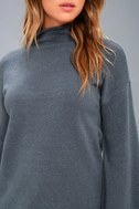 Skyler Slate Blue Mock Neck Sweater 5
