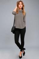 Shasta Grey Cowl Neck Sweater Top 1