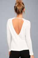 Layer of Love White Backless Long Sleeve Top 3