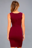 Watch for Curves Wine Red Sleeveless Bodycon Dress 3