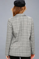 Day by Day Black and White Plaid Blazer 3