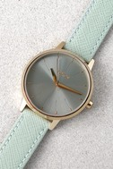 Nixon Kensington Leather Light Gold and Agave Watch 4