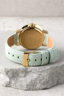 Nixon Kensington Leather Light Gold and Agave Watch 3