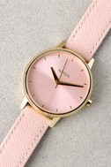 Nixon Kensington Leather Light Gold and Pale Pink Watch 4