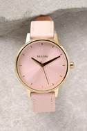 Nixon Kensington Leather Light Gold and Pale Pink Watch 2