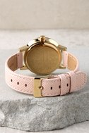 Nixon Kensington Leather Light Gold and Pale Pink Watch 3