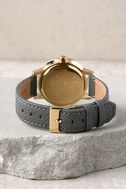 Nixon Kensington Leather Light Gold and Charcoal Watch 3