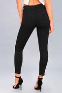 Go Getter Black Ankle Skinny Jeans 4
