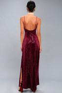 Studio Lounge Burgundy Velvet Sequin Maxi Dress 4