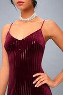 Studio Lounge Burgundy Velvet Sequin Maxi Dress 5