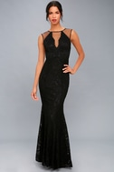 Amazing Lace Black Lace Maxi Dress 1