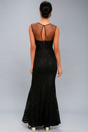 Amazing Lace Black Lace Maxi Dress 4