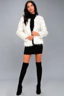 Aurora White Faux Fur Jacket 2
