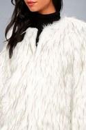 Aurora White Faux Fur Jacket 4