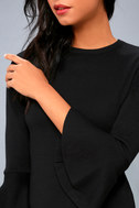 On My Level Black Flounce Sleeve Sweater Top 4