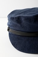 Tip Top Navy Blue Corduroy Baker Boy Cap 1