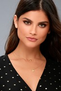 Julian Gold Rhinestone Layered Necklace 3