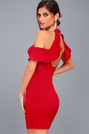 Your Time Red Off-the-Shoulder Bodycon Dress 1