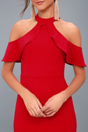 Your Time Red Off-the-Shoulder Bodycon Dress 4