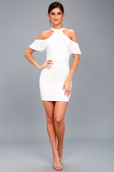 Your Time White Off-the-Shoulder Bodycon Dress 1
