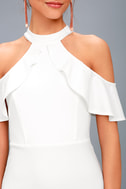 Your Time White Off-the-Shoulder Bodycon Dress 4