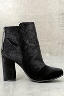 Nadonna Black Velvet Ankle Booties 3