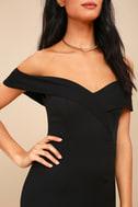 New Sensation Black Off-the-Shoulder Bodycon Dress 4