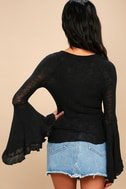 Soo Dramatic Black Long Sleeve Top 1