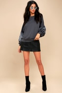 Bella Grey Faux Fur Sweatshirt 1