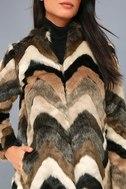 Waylon Multi Faux Fur Coat 4