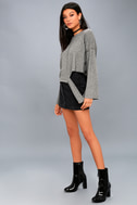Choreography Heather Grey Cutout Cropped Sweater 2