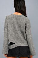 Choreography Heather Grey Cutout Cropped Sweater 3