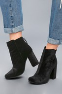 Nadonna Black Velvet Ankle Booties 2