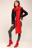 East Village Red Mid-Calf Boots 4