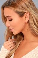 Simply Stylish Rose Gold Hoop Earrings 1