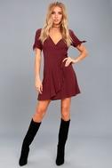 My Philosophy Burgundy Wrap Dress 5