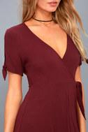 My Philosophy Burgundy Wrap Dress 8