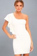Live my Life White One-Shoulder Bodycon Dress 6