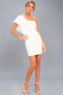 Live my Life White One-Shoulder Bodycon Dress 5