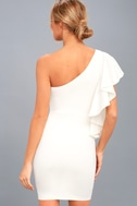 Live my Life White One-Shoulder Bodycon Dress 7