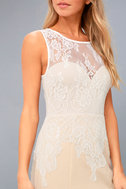 Lover's Lace White and Nude Lace Maxi Dress 5