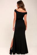 Ballroom Bound Black Off-the-Shoulder Maxi Dress 4