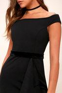 Ballroom Bound Black Off-the-Shoulder Maxi Dress 5