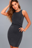 More than a Dream Charcoal Grey Sleeveless Bodycon Dress 6