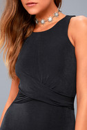 More than a Dream Charcoal Grey Sleeveless Bodycon Dress 8