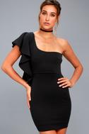 Live my Life Black One-Shoulder Bodycon Dress 6