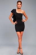 Live my Life Black One-Shoulder Bodycon Dress 5